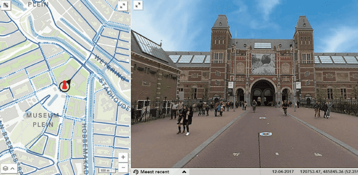 Figure 2: Street-level image from the city of Amsterdam. Source ©Trimble