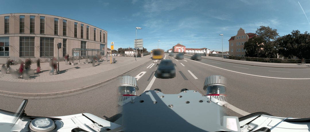 Figure 1: Example of blurred images from Mobile Mapping Street-Level Panorama, © STRABAG AG